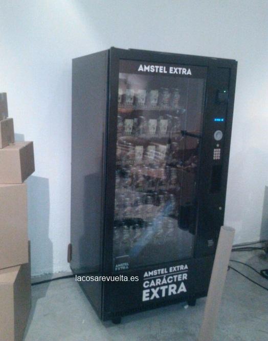 Premio Amstel. Maquina Vending