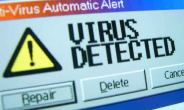 window alert of virus detected
