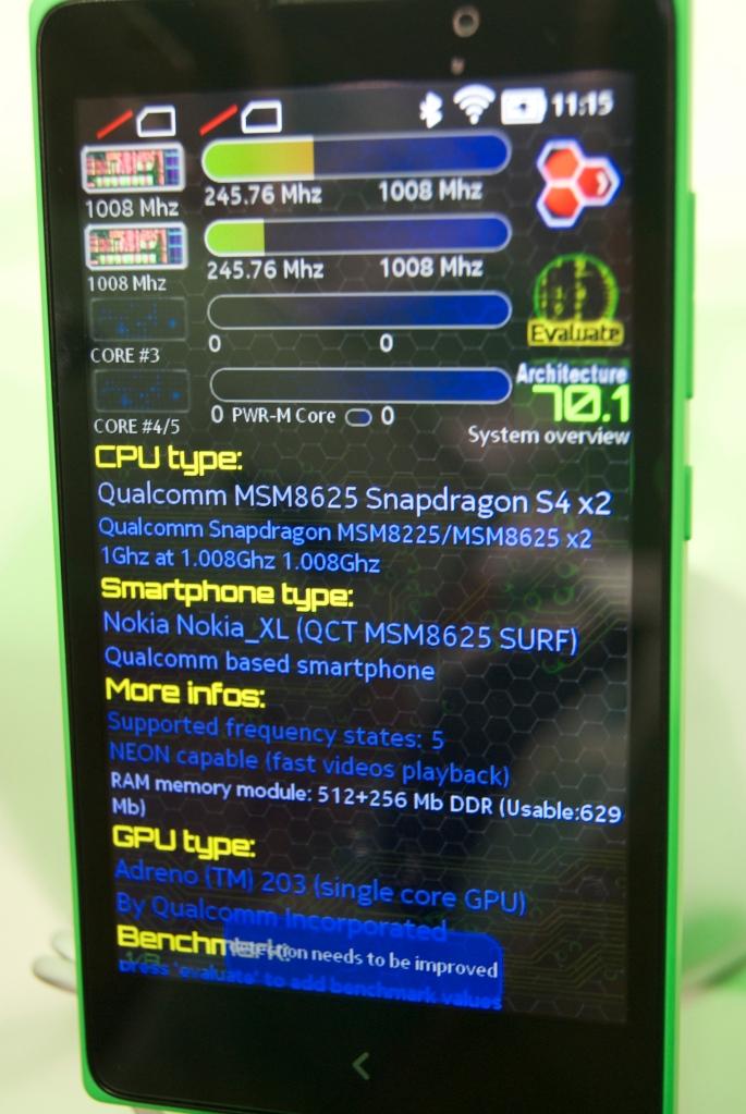 Detalles HW Nokia XL