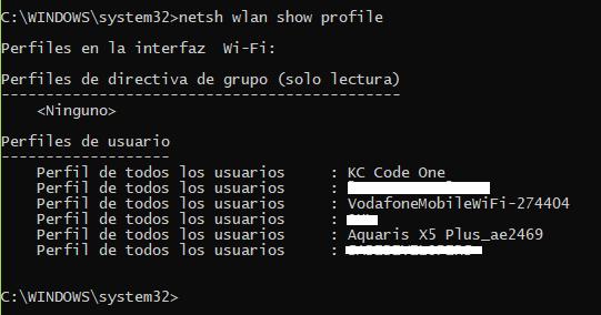netshProfile
