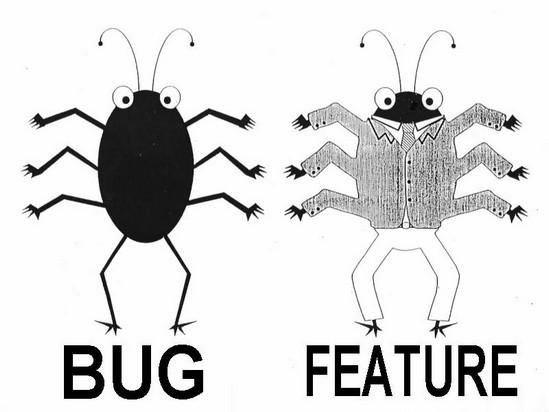 un bug y una feature